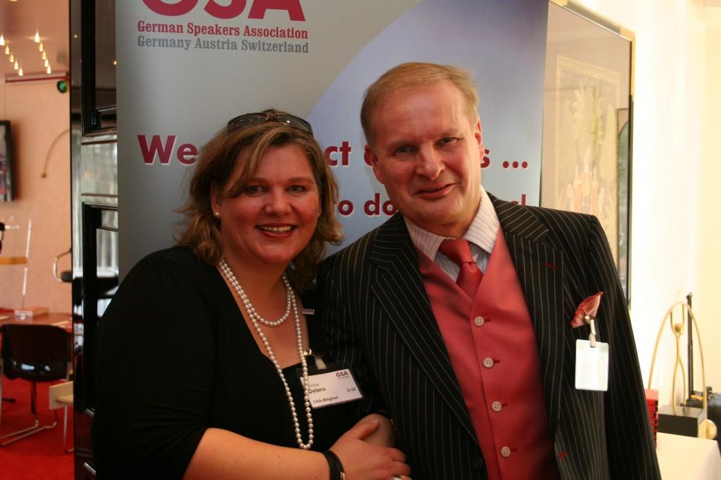 Prof Lothar Seiwert und und Monica Deters