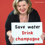 save water - drink champagne
